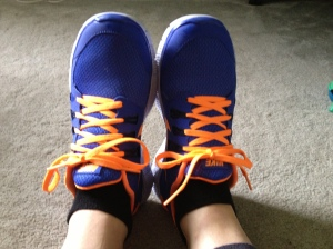 Get a pair of awesome running shoes to help you feel stylish and remind you to be more active!