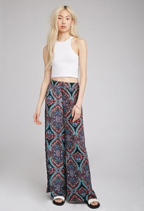 Paisley Palazzo Pants by Forever 21