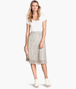 H&M Pleated Midi