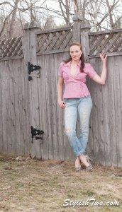Pair a gingham shirt with boyfriend jeans and your favorite heels for an easy put together look!