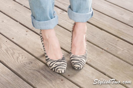 Dress up a great pair of jeans with zebra print!