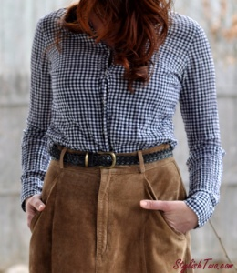 StylishTwo.com - Spring 2015 fashion trends gingham & suede