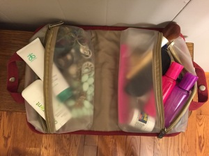 Pack all of your toiletries in one easy to access bag!