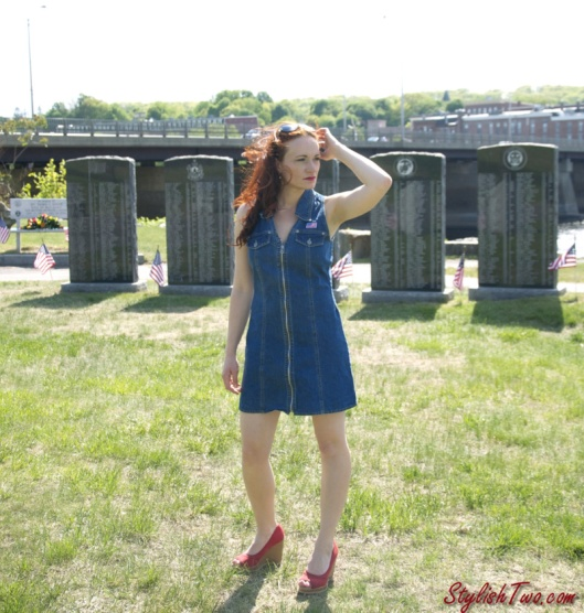 How to Wear a denim dress - Summer Trend
