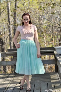 How to Wear Spring Fashion Trend Midi Skirt at StylishTwo.com